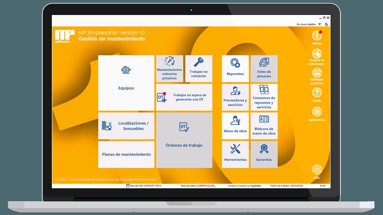 menu principal mp versión 10